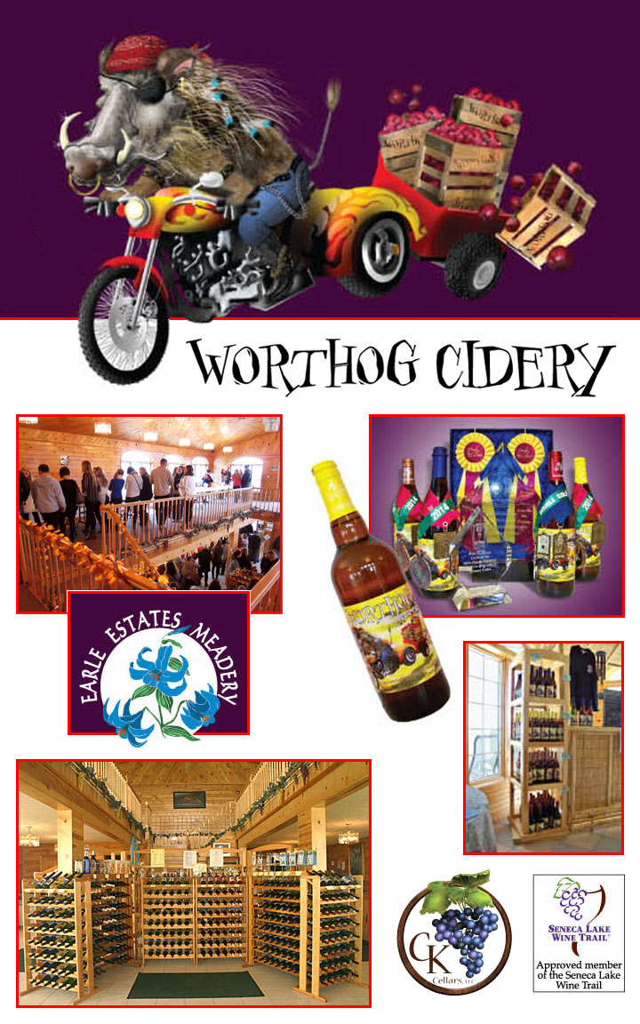 Worthog Cidery logo and images